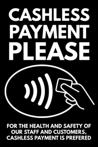 Cashless Payment Please Poster