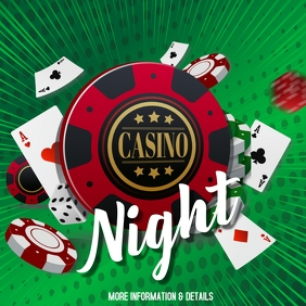 Casino, casino night,event Instagram Post template