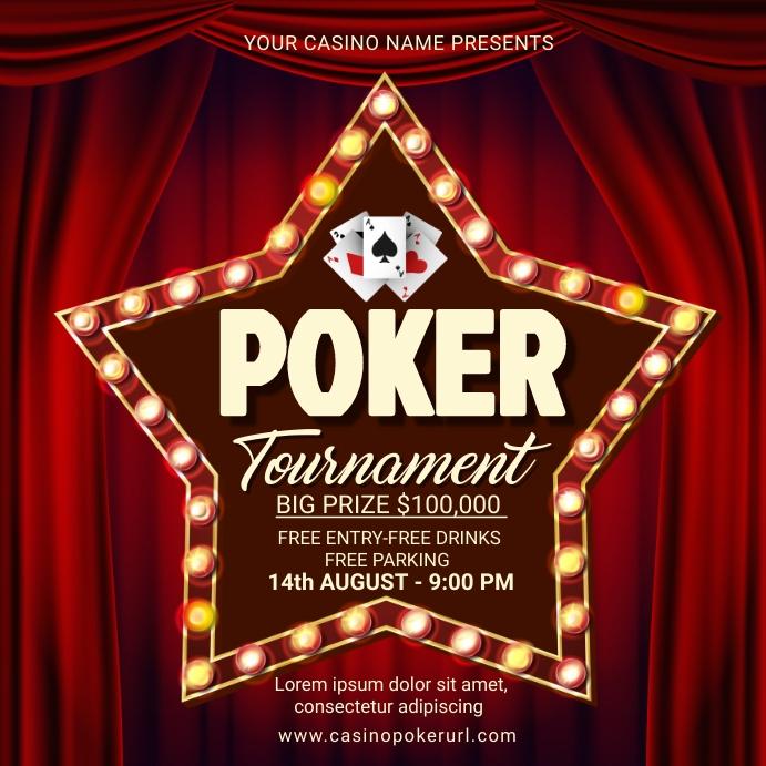 Casino, casino night,event Сообщение Instagram template