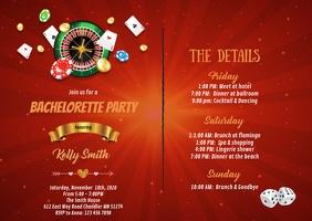 Casino Bachelorette itinerary invitation