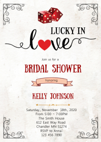 Casino bridal shower invitation