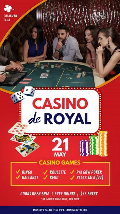 Casino Cabaret Club Digital Display Sign template