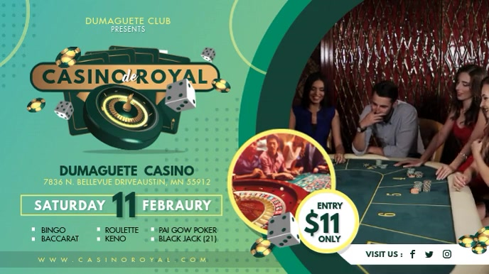 Casino Club Grand Opening Digital Display Ad template