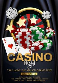 casino gamble A4 template