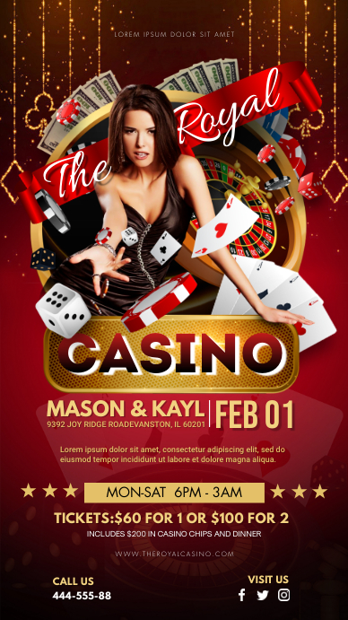 Casino Gambling Ad Digital Display Ad template