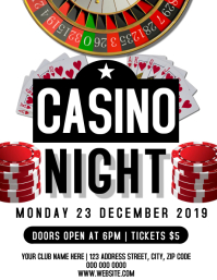 Casino Game Night Event Flyer Template