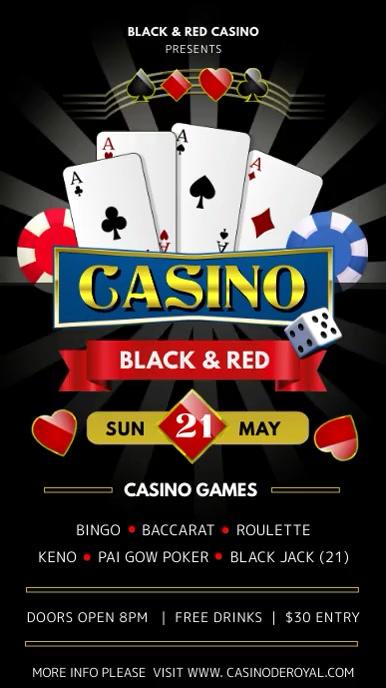 Casino Night Club Digital Display Ad 数字显示屏 (9:16) template