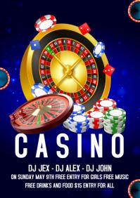 Casino night A4 template