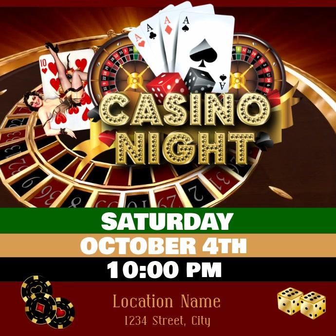 Casino Night Instagram-bericht template