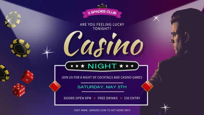 Casino Night Digital Display Ad Template