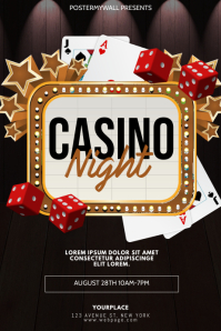 Casino Night Flyer Design Template
