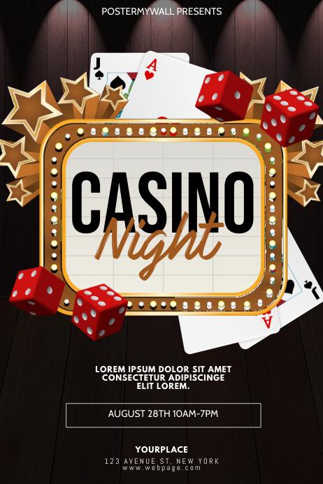 Casino Night Flyer Design Template
