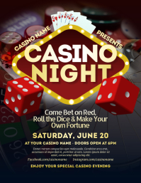 Casino Night Flyer Folheto (US Letter) template