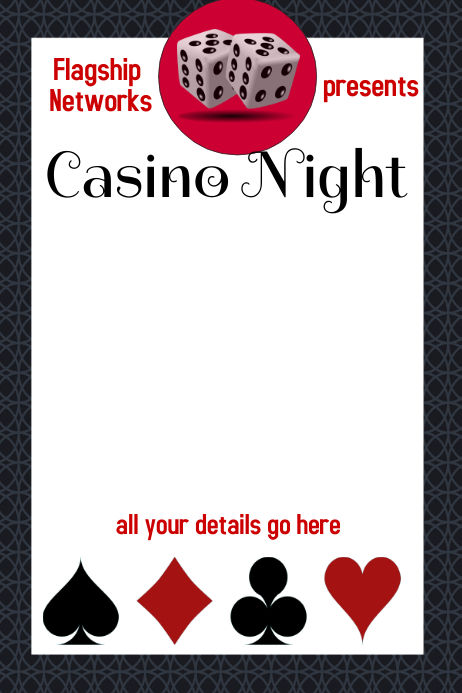 casino night fundraiser event flyer poster template postermywall