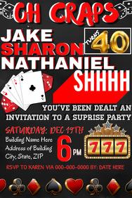 Casino Night Party Invitation