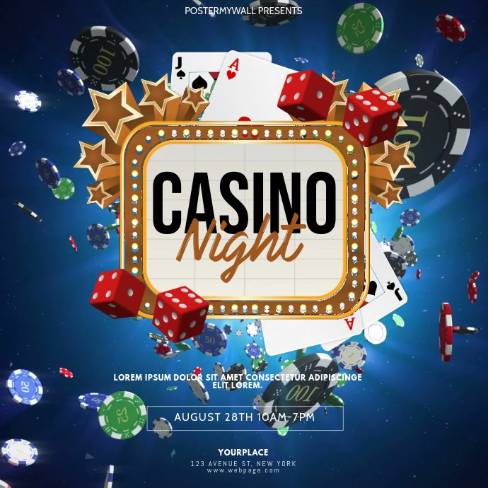 Casino Night Video Design Template