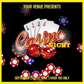 Casino Night Video Template Instagram Post