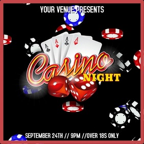 Casino Night Video Template Instagram Post