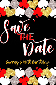 Casino Party Save The Date