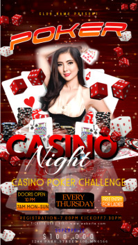CASINO POSTERS TEMPLATE Instagram Story
