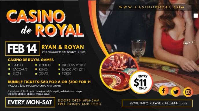 Casino Royal Grand Opening Digital Display งานแสดงผลงานแบบดิจิทัล (16:9) template