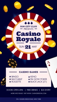 Casino Royale Club Digital Display Sign template