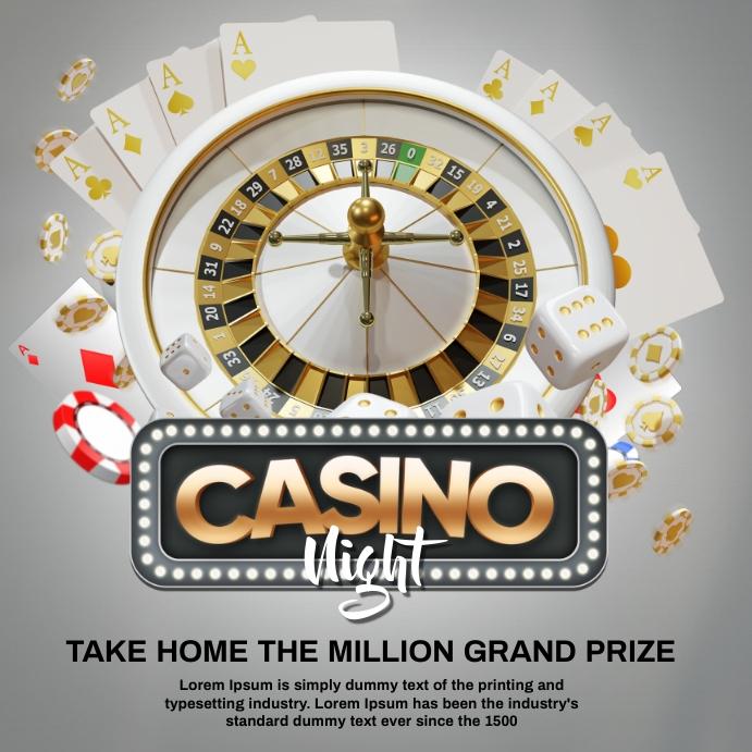 casino white flyer Instagram 帖子 template