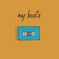 Cassette beats Album Song Cover Art Обложка альбома template