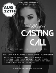 Customizable Design Templates For Casting Call