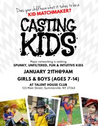 Casting Kids Flyer