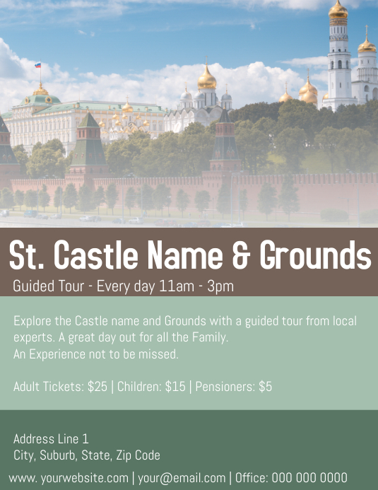Castle Flyer Template