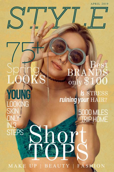Casual Playful Fashion Magazine Cover