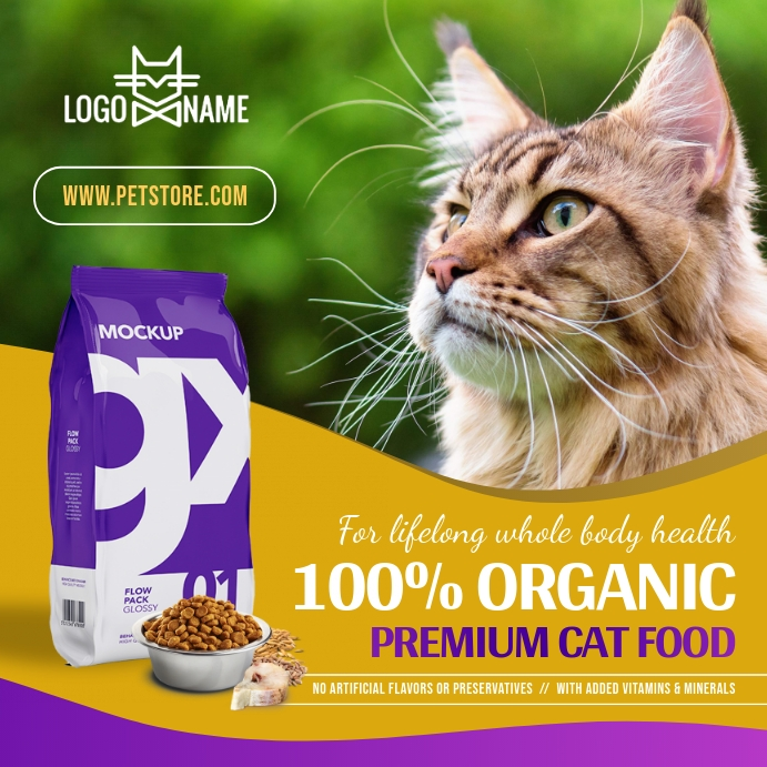 Cat Food Ad Instagram Image template