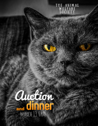 cat pet benefit dinner and auction flyer