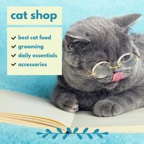 Cat Shop Publicación de Instagram template