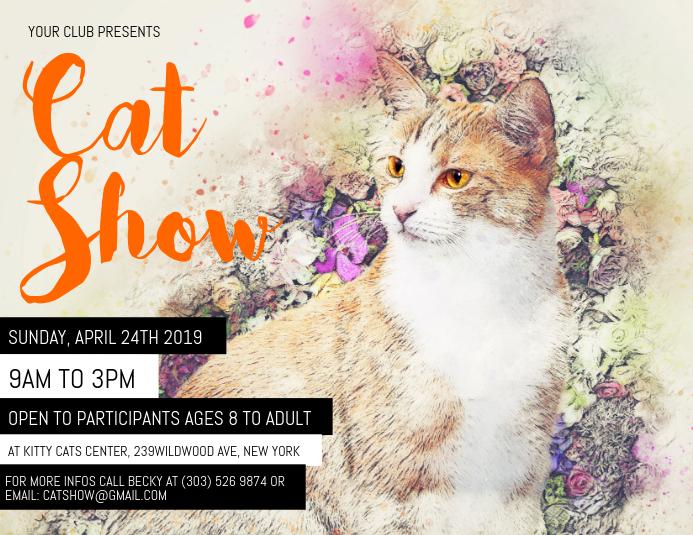 Cat Show Flyer