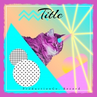 Cat Trippy House Trance Album Cover template