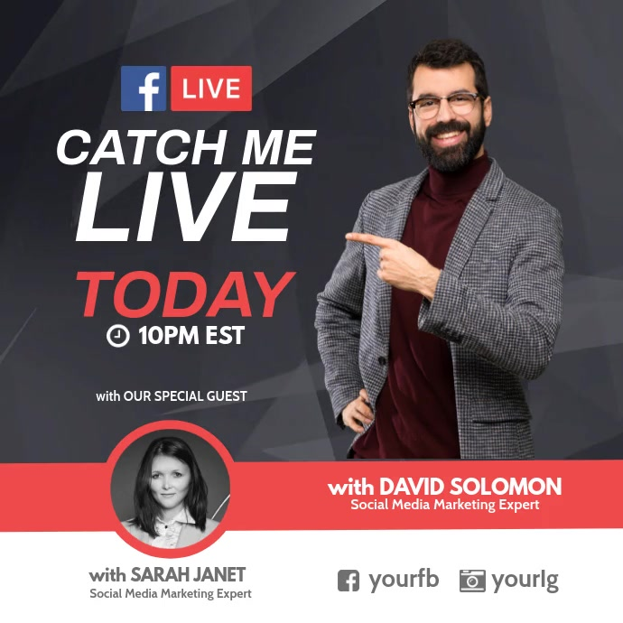 Catch me live today session facebook