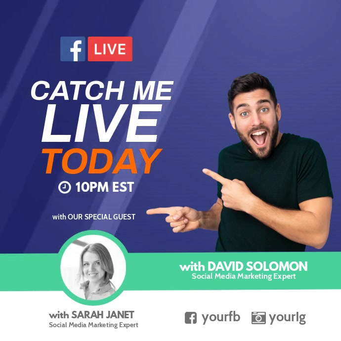 Catch me live today session facebook Instagram 帖子 template