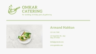 Catering Business Card Back template
