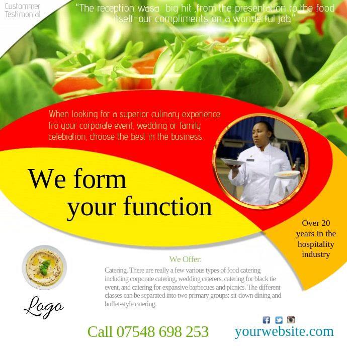Catering Business Video advert