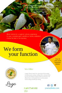 Customizable design templates for catering postermywall catering company flyer saigontimesfo
