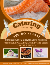 customizable design templates for catering postermywall
