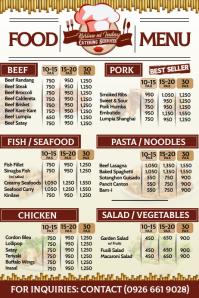 Catering Food Menu Poster template