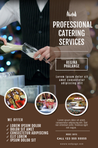 Catering Service Flyer Template Poster