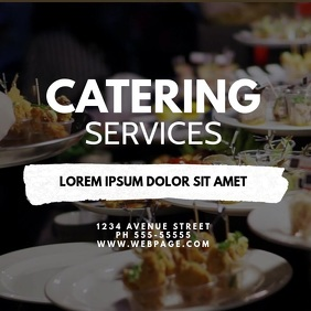 Catering Service VIdeo Ad Design Template