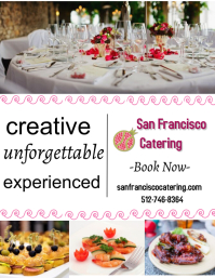catering services/corporate/venue/restaurants Pamflet (Letter AS) template