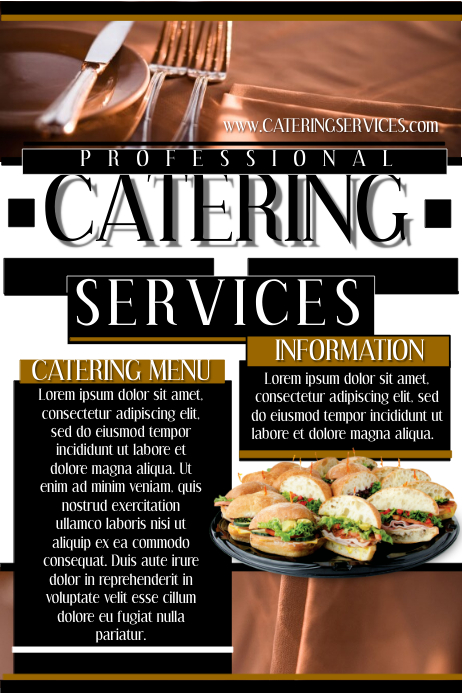 catering services template