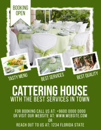 Catering Services Outdoor Dining Services Fly 传单(美国信函) template