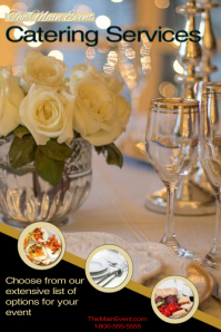 Catering services/parties/menus/feast/food Poster template